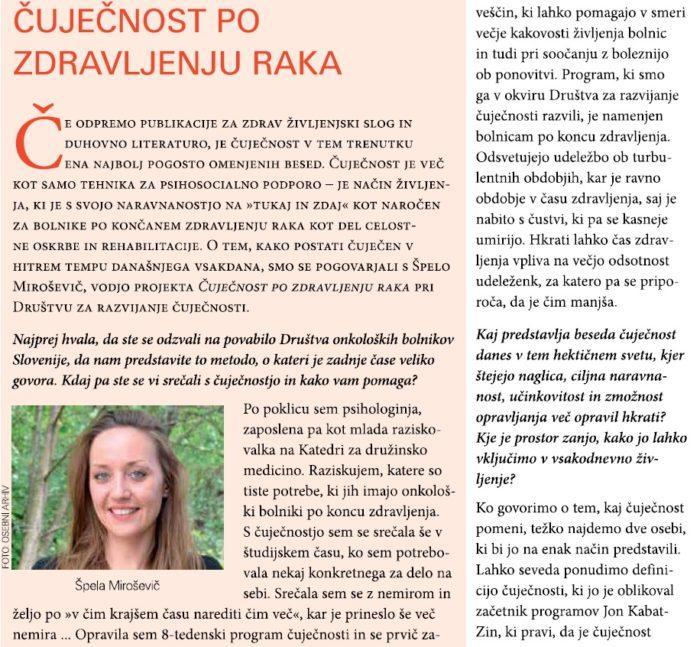 Intervju s Špelo Miroševič